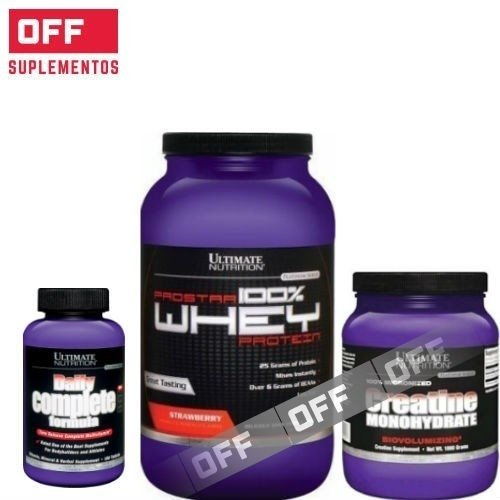 PROSTAR WHEY X 2LBS + DAILY COMPLETE FORMULA X 180CAPS + CREATINA X 300GRS - ULTIMATE NUTRITION