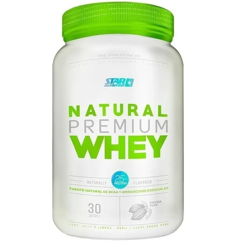 NATURAL WHEY PROTEIN 2 LBS - STAR NUTRITION