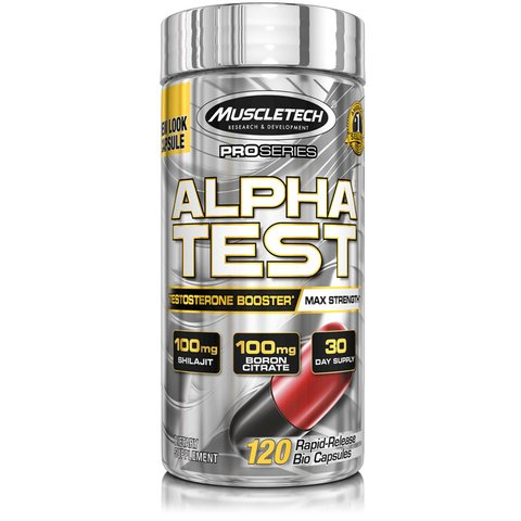 ALPHA TEST  120Caps PRO SERIES - MUSCLETECH