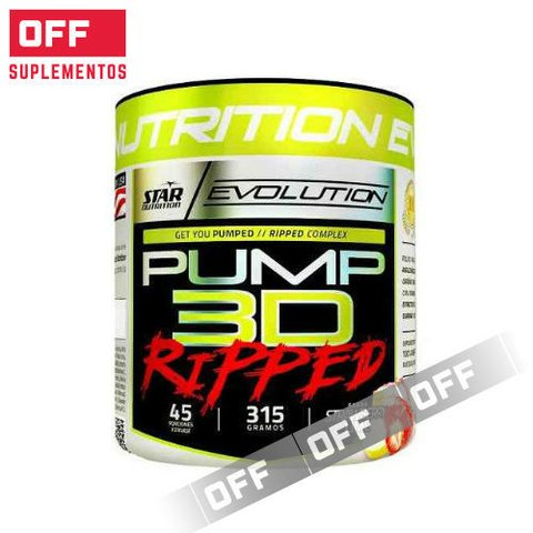 PUMP 3D RIPPED 315GRS - STAR NUTRITION