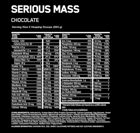 SERIOUS MASS 6 Lbs - ON - comprar online