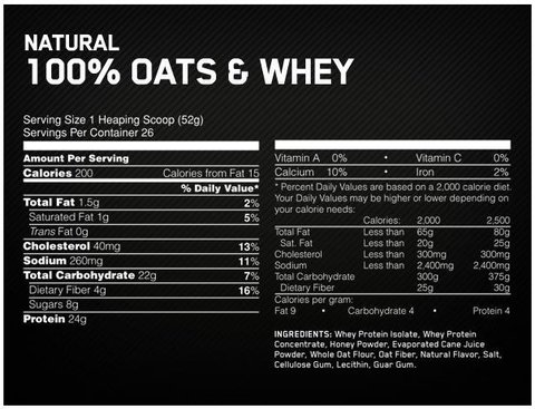 Whey & Oats 1,54lbs - ON en internet