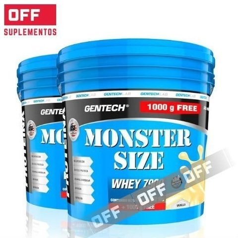COMBO: WHEY MONSTER SIZE 7900 10% OFF  2 BALDES 5 Kg - GENTECH