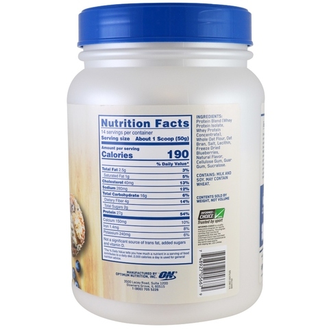 Whey & Oats 1,54lbs - ON - comprar online