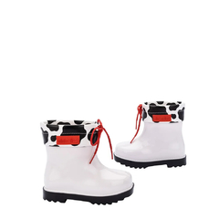 Mini Melissa Rain Boot II BB Branco Preto na internet