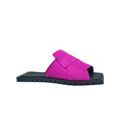 Flat Origami [WS],  couro nobuck pink, sola exclusiva, ref. 012.504