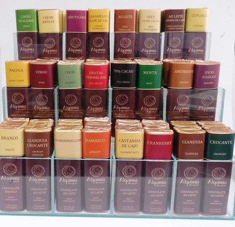 Barras de chocolate gourmet 25g