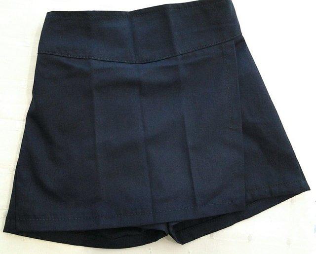 Pollera Pantalon Escolar De Gabardina Azul Talle 12 G060214