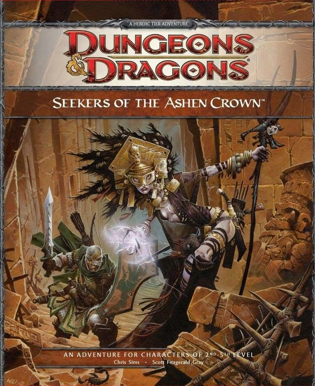 Dungeons & Dragons 4th - Seekers of the Ashen Crown Adventure