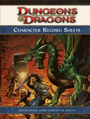 DUNGEONS & DRAGONS 4.0 CHARACTER RECORD SHEETS