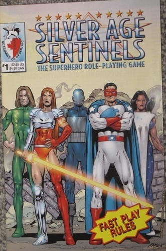 RPG Silver Sentinels - The Superhero Role-Playing Game - Fast Play 1, 2 e Character Pholio