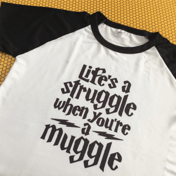 REMERA Life's a struggle when you're a muggle (Harry Potter)