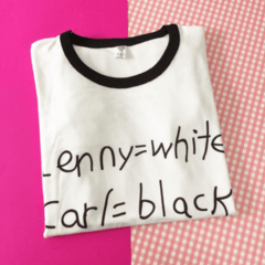 REMERA Lenny White, Carl Black - Simpsons - comprar online