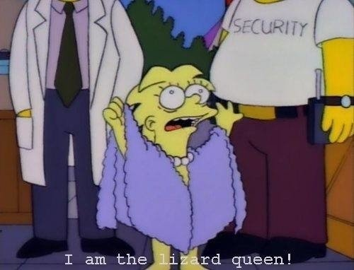 REMERA Lisa Lizard Queen (Simpsons)