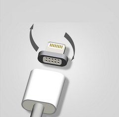 Cabo USB 2.0 Magnético Compatível Turbo Power Android iPhone
