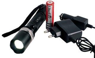 Lanterna Tática LED Cree Q5 com Bastão S...