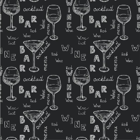 Papel de Parede Adesivo Wine and Cocktail