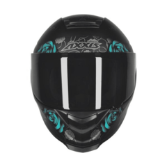 CAPACETE AXXIS EAGLE FLOWERS PF/AZ - AUTOMOTOS