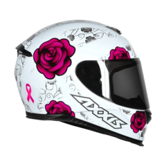 CAPACETE AXXIS EAGLE FLOWERS BR/RS - AUTOMOTOS