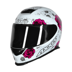 CAPACETE AXXIS EAGLE FLOWERS BR/RS