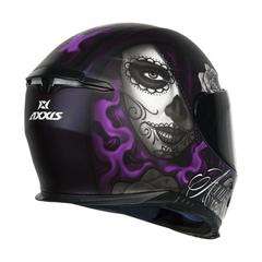 CAPACETE AXXIS EAGLE LADY CATRINA - AUTOMOTOS