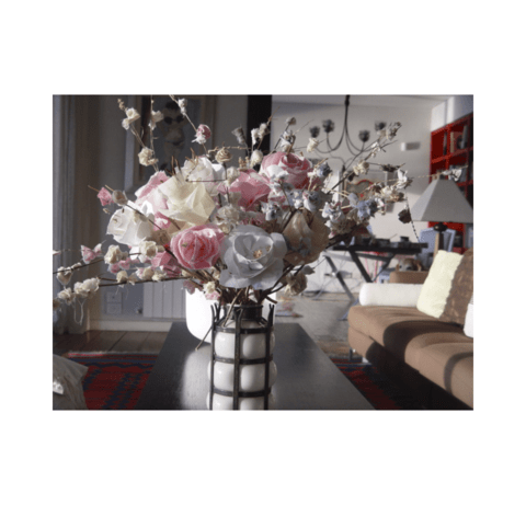 Luxury Flowers Beige en internet