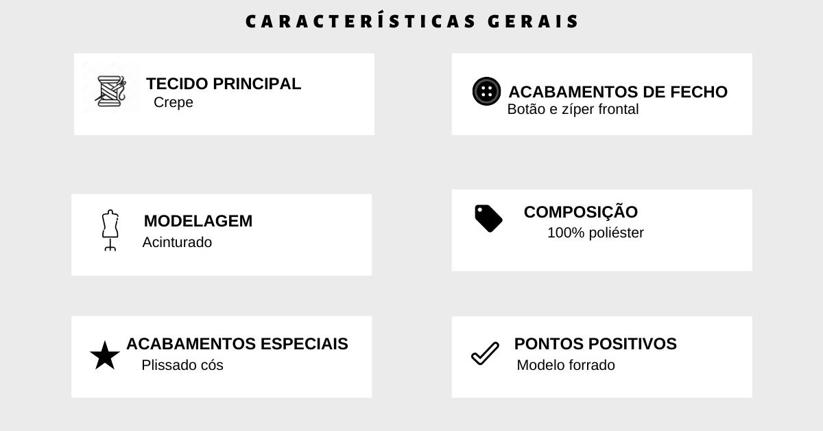 shorts detalhe botões tabela de medidas