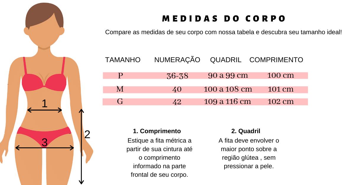 calça jogger animal print tabela de medidas