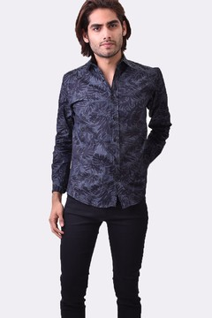 CAMISA MANGA LARGA  SIMIL JEANS PALMS
