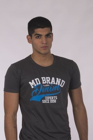 REMERA CUELLO/0  BITONO MD58  BRAND DENIM - comprar online