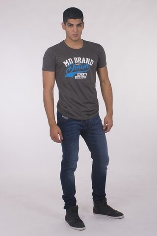 REMERA CUELLO/0  BITONO MD58  BRAND DENIM en internet