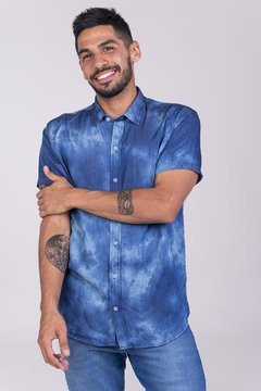 CAMISA M/C SOFT DENIM BATIK