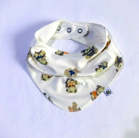 Babador Bandana Dupla Face Little Bear - 3 Cores na internet