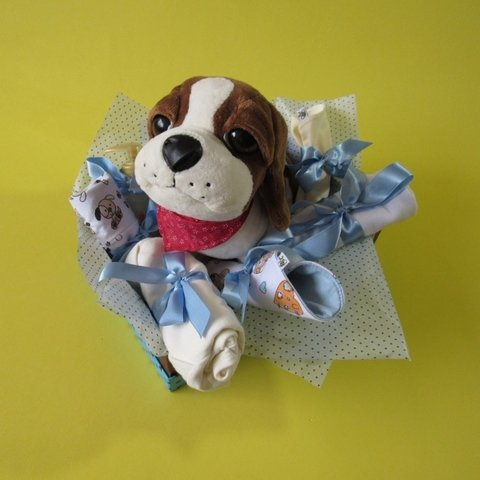 Cesta de Maternidade Blue Little Dog