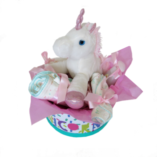 Cesta de Maternidade Unicorn Nap Time (green)