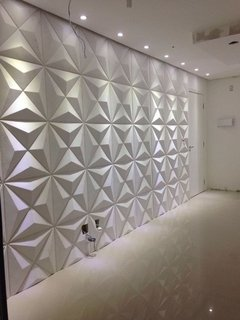 Imagen de Panel decorativo 3D PVC Triangulos 50x50 REVESTIMIENTO PARED