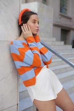 Imagen de Sweater HILO BLUE ORANGE