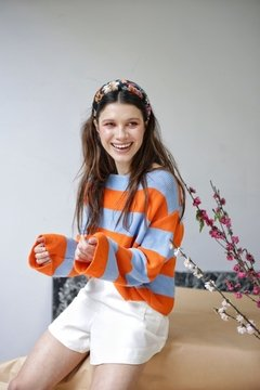 Sweater HILO BLUE ORANGE - comprar online