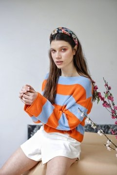 Sweater HILO BLUE ORANGE - AMPI VERA