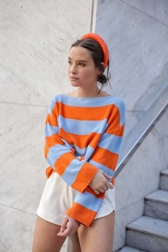 Sweater HILO BLUE ORANGE