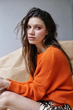 Sweater NILO ORANGE en internet