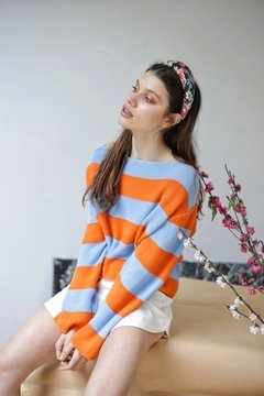 Sweater HILO BLUE ORANGE en internet