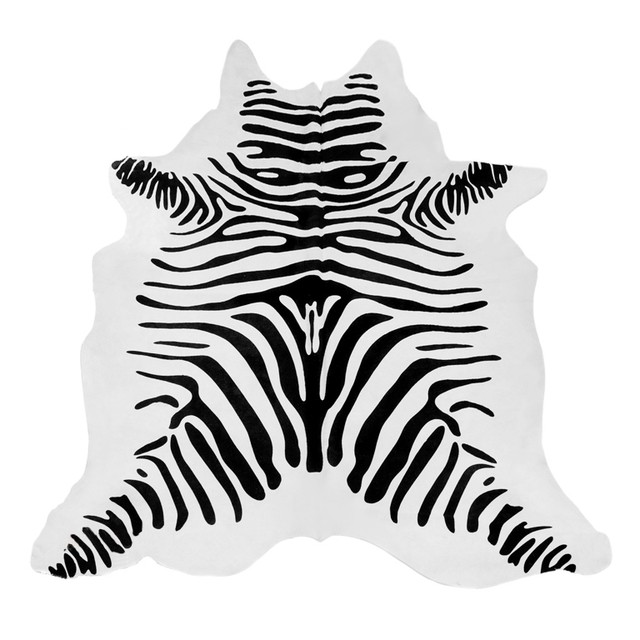 Tapete de couro zebra serigrafado for Zebra tapete