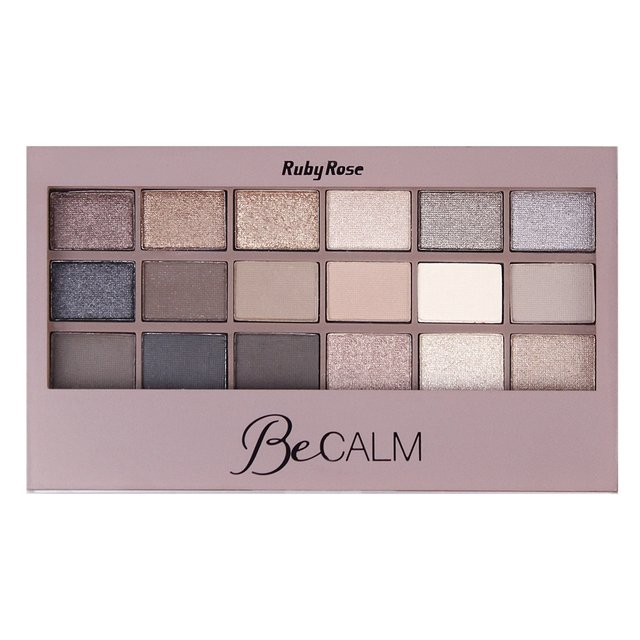 HB 9928 - Paleta de Sombras Be Calm 18 cores Ruby Rose