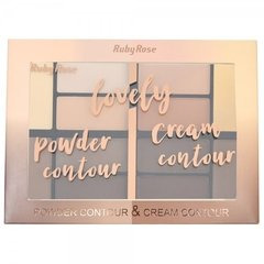 Paleta de Contorno Lovely Powder Cream Contour - Ruby Rose (HB 8100) - Geth Distribuidora