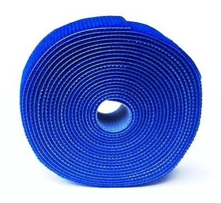 ROLO DE VELCRO 3MX20MM SLIM AZUL
