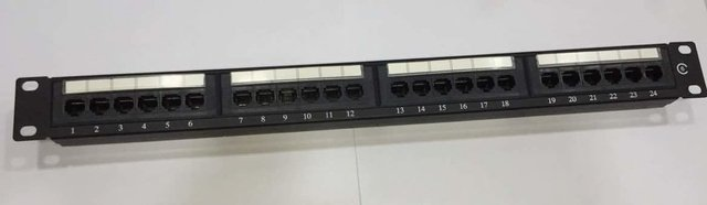 PATCH PANEL UTP CAT6 24 PORTAS SP610021