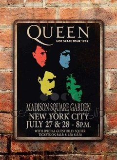 Chapa rústica Queen Hot Space Tour 1982 - comprar online