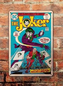 Chapa rústica Comic The Jocker