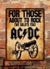Chapa rústica ACDC For Those about to rock